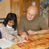 David home tutoring a student
