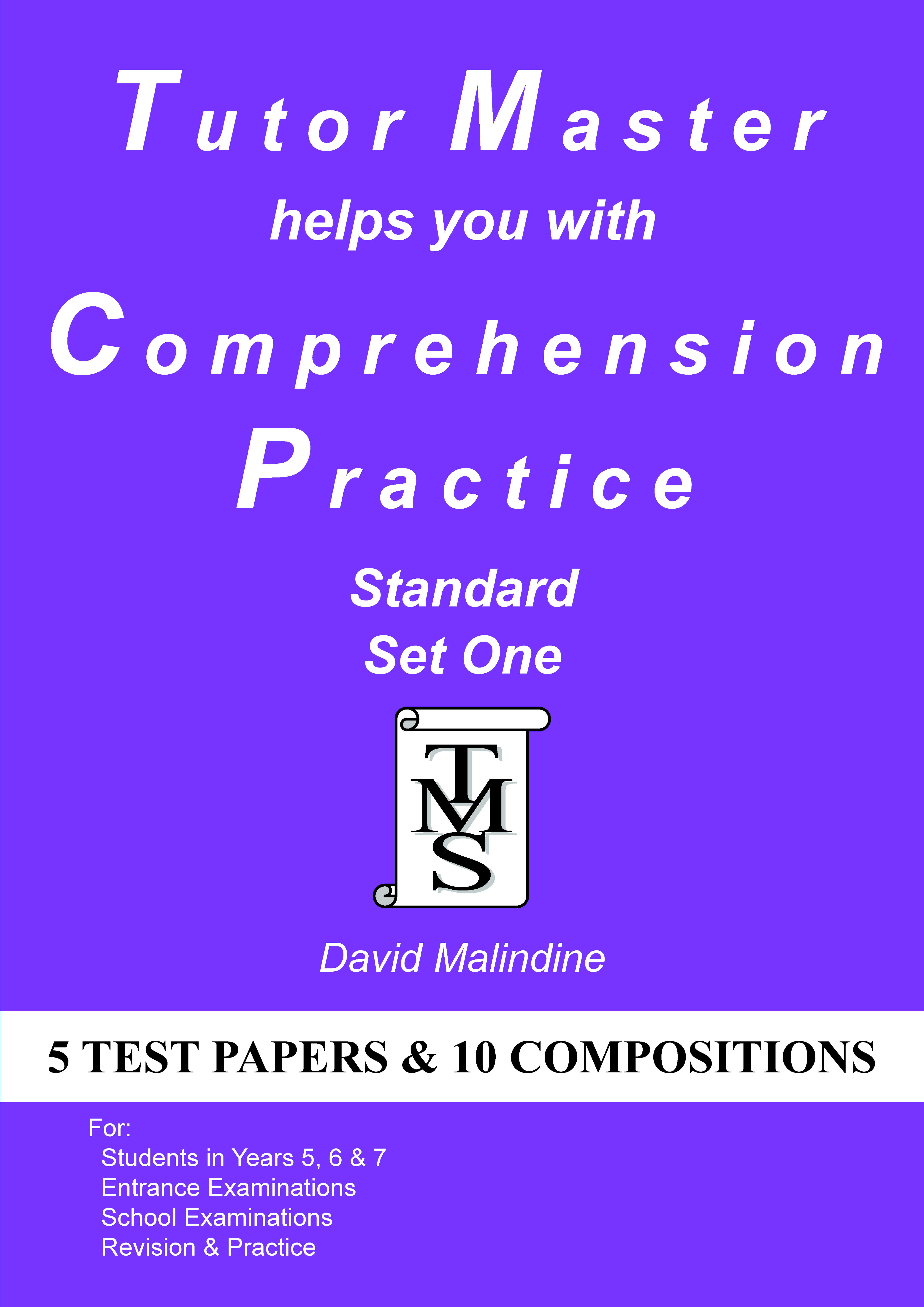 The  cover of Tutor Master helps you with Comprehension Practice - Standard Set One
